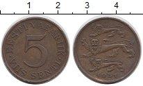 Изображение Монеты Эстония 5 сенти 1931 Медь VF