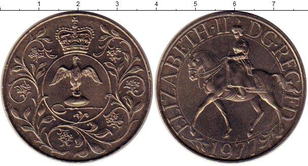 Картинка Монеты Великобритания 25 пенсов Медно-никель 1977
