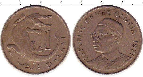 Картинка Монеты Гамбия 1 даласи Медно-никель 1971