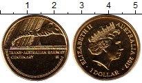Изображение Монеты Австралия 1 доллар 2017 Латунь UNC м.д.Брисбейн. 100-ле