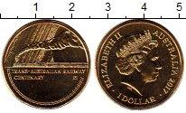 Изображение Монеты Австралия 1 доллар 2017 Латунь UNC
