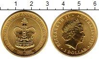 Изображение Монеты Австралия 1 доллар 2013 Латунь UNC