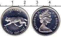 Изображение Монеты Канада 25 центов 1967 Серебро BUNC 100-летие Конфедерац
