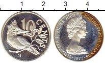 Изображение Монеты Виргинские острова 10 центов 1977 Серебро Proof-
