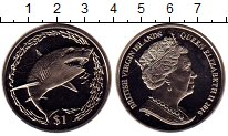 Изображение Мелочь Виргинские острова 1 доллар 2016 Медно-никель UNC Акула