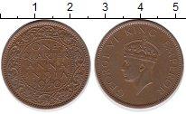 Изображение Монеты Индия 1/4 анны 1940 Бронза XF Георг VI