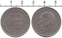 Изображение Монеты ФРГ 2 марки 1970 Медно-никель XF J   Конрад  Аденауэр