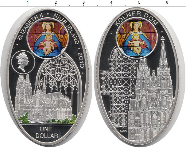 Картинка Монеты Ниуэ 1 доллар Серебро 2010