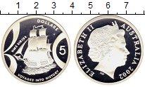 Изображение Монеты Австралия 5 долларов 2002 Серебро Proof Корабль Сириус