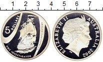 Изображение Монеты Австралия 5 долларов 2002 Серебро Proof Исторические путешес