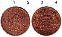 Изображение Монеты Тонга 2 сенити 1981 Бронза UNC-