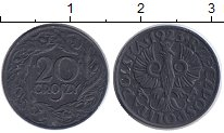 Изображение Монеты Польша 20 грош 1941 Цинк XF