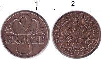 Изображение Монеты Польша 2 гроша 1938 Бронза XF