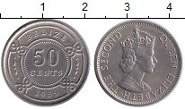 Изображение Монеты Белиз 50 центов 1989 Латунь XF+