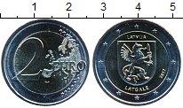 Изображение Мелочь Латвия 2 евро 2017 Биметалл UNC Латгалия