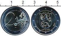 Изображение Мелочь Латвия 2 евро 2017 Биметалл UNC