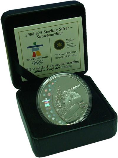Изображение Подарочные монеты Канада 25 долларов 2008 Серебро Proof
