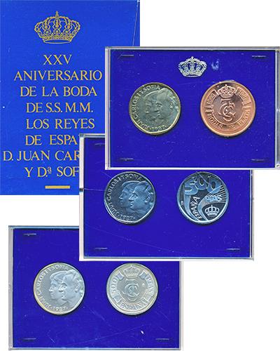 Изображение Подарочные монеты Испания Набор пробных монет 1987 года 1987  Proof