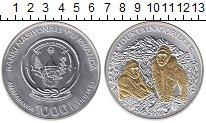 Изображение Монеты Руанда 1000 франков 2008 Серебро UNC