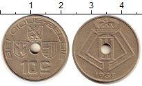Изображение Монеты Бельгия 10 сантим 1938 Медно-никель XF Леопольд III