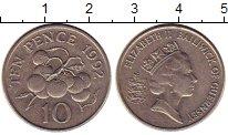 Изображение Монеты Гернси 10 пенсов 1992 Медно-никель XF Елизавета II.  Томат