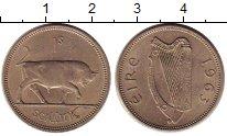 Изображение Монеты Ирландия 1 шиллинг 1963 Медно-никель XF Бык.
