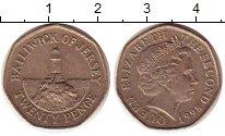 Изображение Монеты Остров Джерси 20 пенсов 1998 Медно-никель XF Маяк