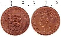 Изображение Монеты Остров Джерси 1/24 шиллинга 1946 Бронза XF Георг VI