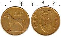 Изображение Монеты Ирландия 20 пенсов 1992 Латунь XF Лошадь
