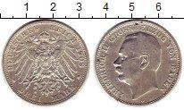 Изображение Монеты Германия Баден 3 марки 1909 Серебро XF-