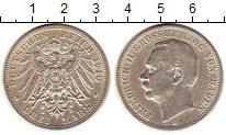 Изображение Монеты Германия Баден 3 марки 1910 Серебро XF-