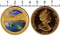 Изображение Монеты Остров Святой Елены 25 пенсов 2013 Медно-никель Proof- Рыба