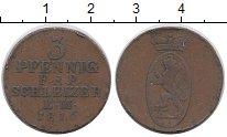 Изображение Монеты Германия Рейсс 3 пфеннига 1816 Медь XF-
