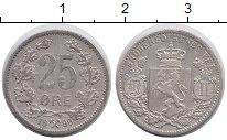 Изображение Монеты Норвегия 25 эре 1899 Серебро XF
