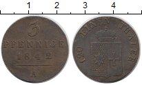 Изображение Монеты Германия Вальдек-Пирмонт 3 пфеннига 1842 Медь XF