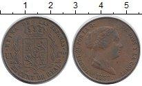 Изображение Монеты Испания 25 сентим 1857 Медь XF