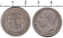 Изображение Монеты Испания 1 песета 1883 Серебро XF