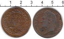 Изображение Монеты Монако 5 сентим 1837 Медь XF