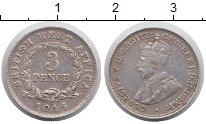 Изображение Монеты Западная Африка 3 пенса 1915 Серебро XF