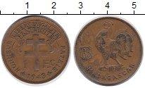 Изображение Монеты Мадагаскар 1 франк 1943 Бронза XF