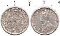 Изображение Монеты Индия 1/4 рупии 1928 Серебро XF+