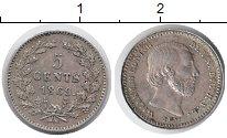 Изображение Монеты Нидерланды 5 центов 1869 Серебро XF