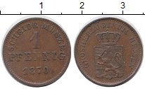 Изображение Монеты Гессен-Дармштадт 1 пфенниг 1870 Медь XF