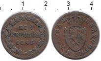 Изображение Монеты Германия Нассау 1 крейцер 1848 Медь VF