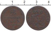 Изображение Монеты Германия Пруссия 2 пфеннига 1821 Медь VF