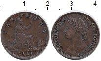 Изображение Монеты Великобритания 1 фартинг 1893 Бронза XF