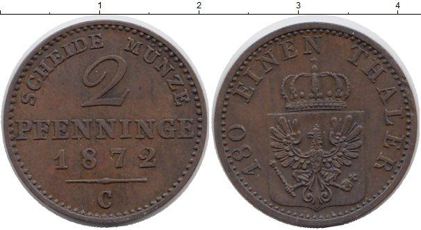 Картинка Монеты Пруссия 2 пфеннига Медь 1872
