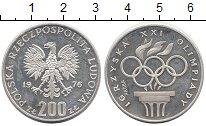 Изображение Монеты Польша 200 злотых 1976 Серебро Proof-