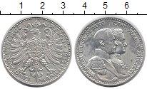 Изображение Монеты Саксен-Веймар-Эйзенах 3 марки 1915 Серебро UNC- 100 - летие  Династи