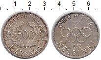 Изображение Монеты Финляндия 500 марок 1952 Серебро UNC- Олимпиада 52.  Хельс